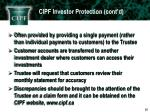 cipf investor protection cont d4