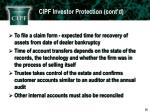cipf investor protection cont d5