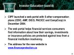 investor education cont d