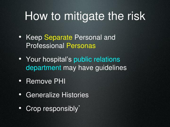 How to mitigate the risk