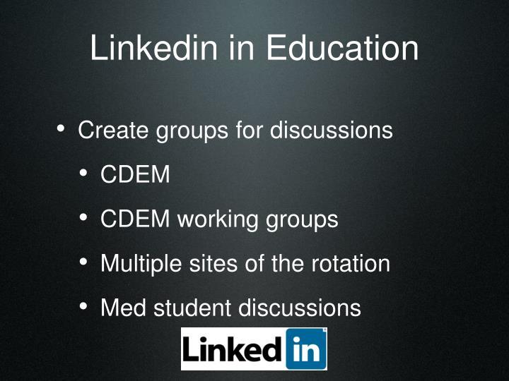 Linkedin in Education