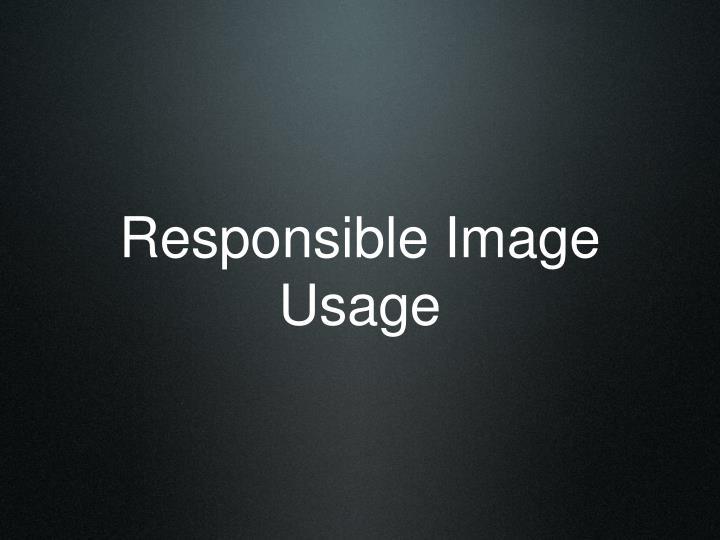 Responsible Image Usage