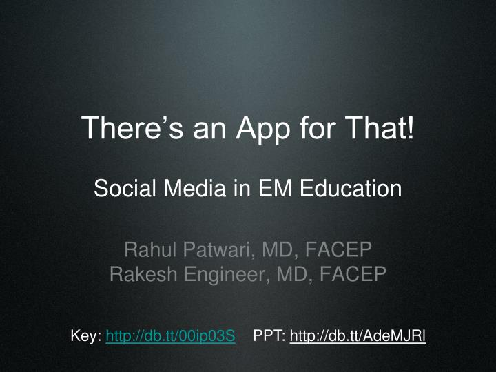 There s an app for that social media in em education
