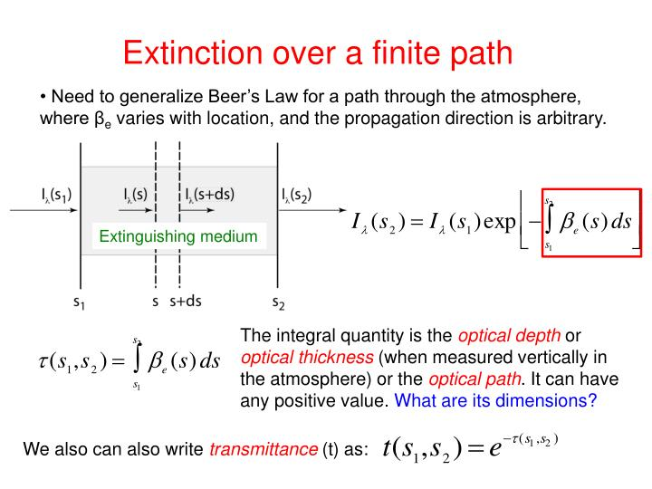 Extinction over a finite path