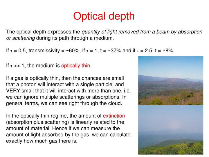Optical depth