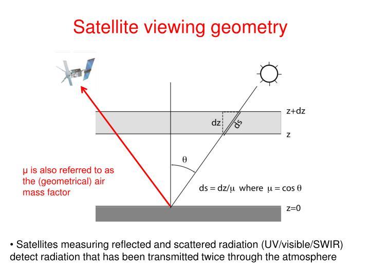 Satellite viewing geometry