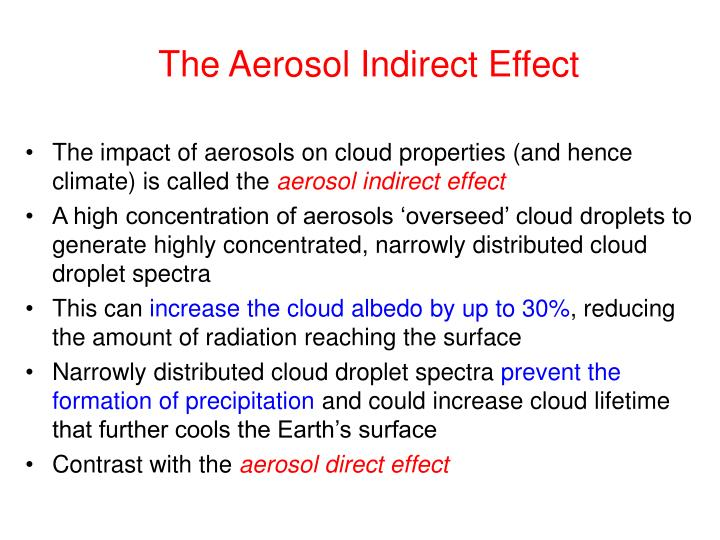 The Aerosol Indirect Effect