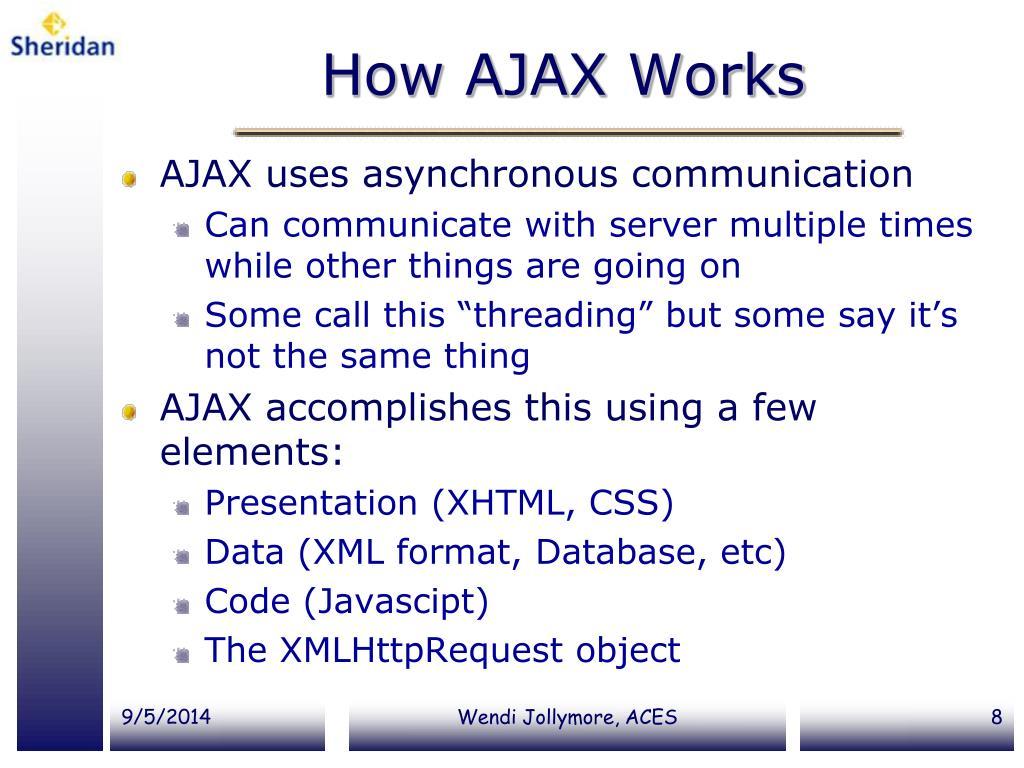 PPT - AJAX PowerPoint Presentation - ID:3975418