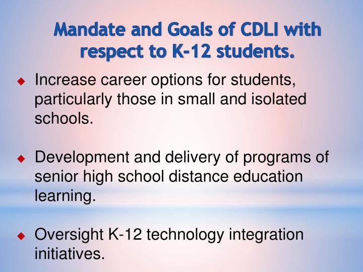 Mandate and Goals of CDLI with