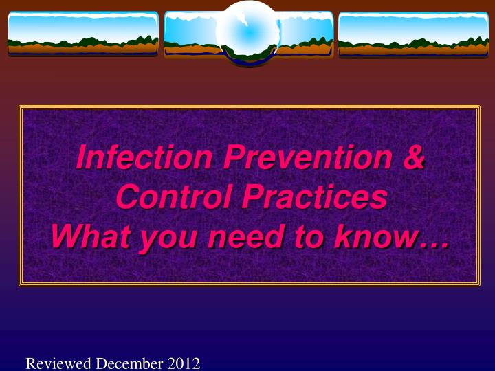 infection prevention control practices what you need to know n.