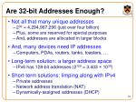 are 32 bit addresses enough