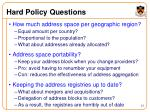 hard policy questions