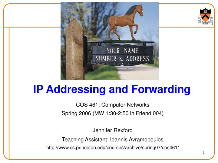 ip addressing and forwarding n.