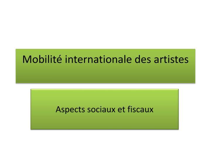 Mobilit internationale des artistes
