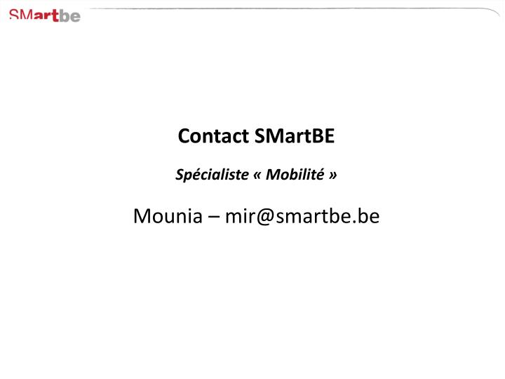 Contact SMartBE