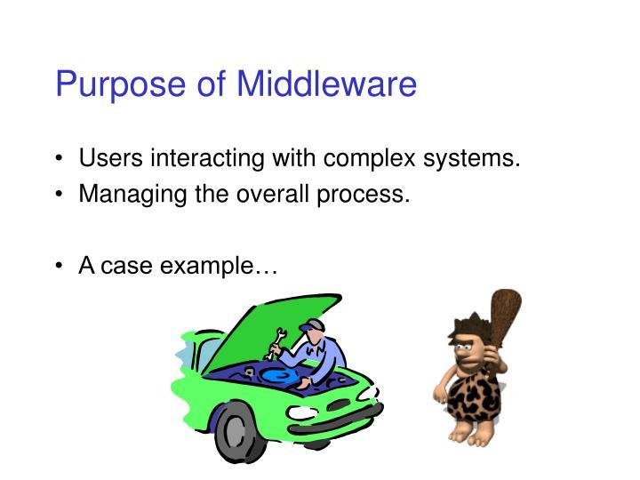 Purpose of Middleware