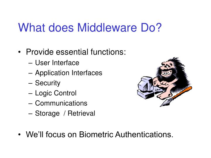 What does Middleware Do?