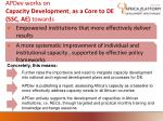 apdev works on capacity development as a core to de ssc ae towards