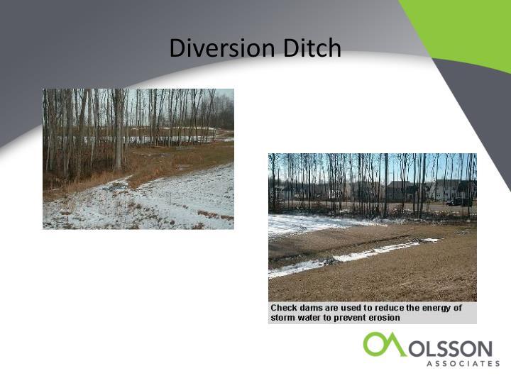 Diversion Ditch