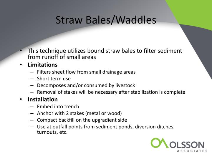Straw Bales/Waddles