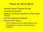 plans for 2012 2013