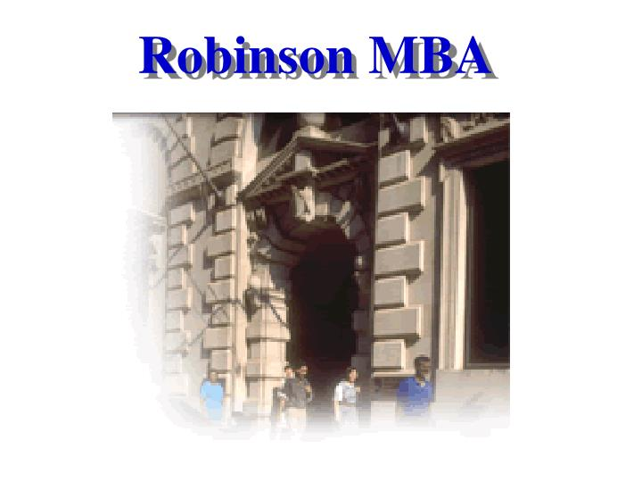 Robinson mba