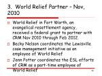 3 world relief partner nov 2010