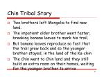 chin tribal story