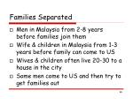 families separated