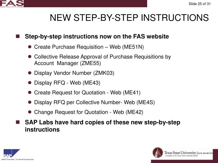 NEW STEP-BY-STEP INSTRUCTIONS