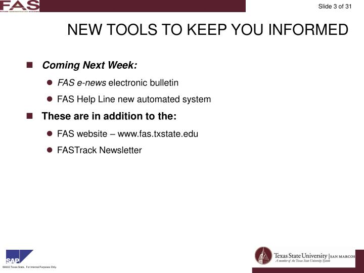 New tools to keep you informed