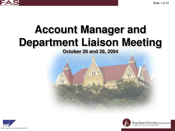 Account Manager and