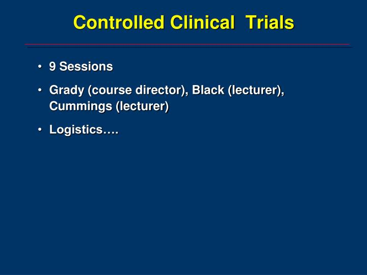 controlled clinical trials n.