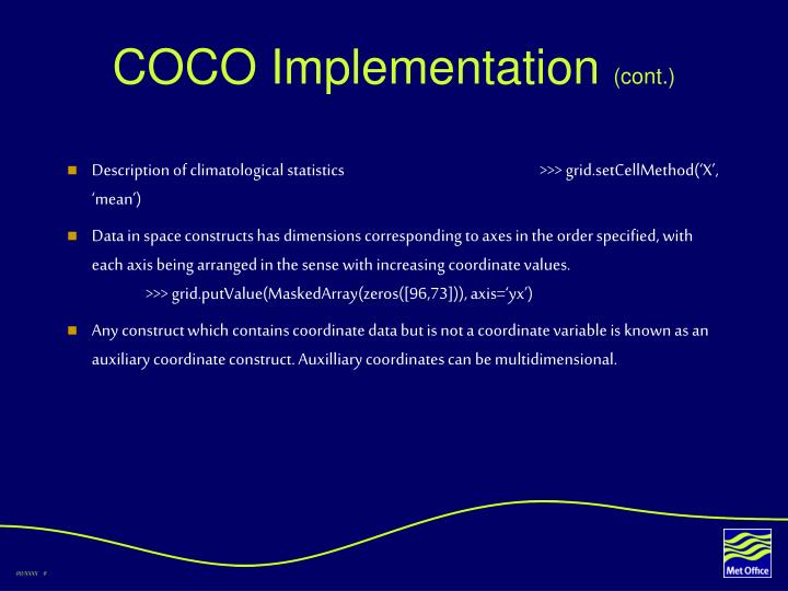 COCO Implementation