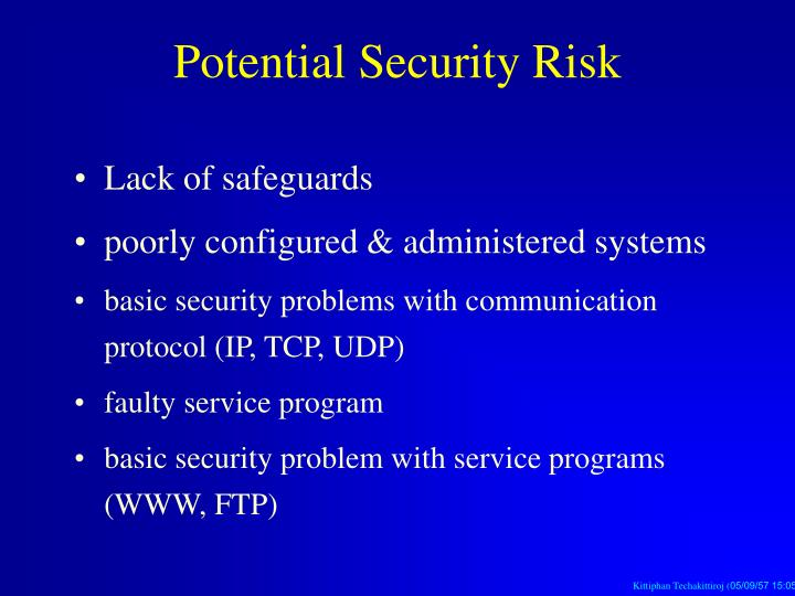 Potential Security Risk