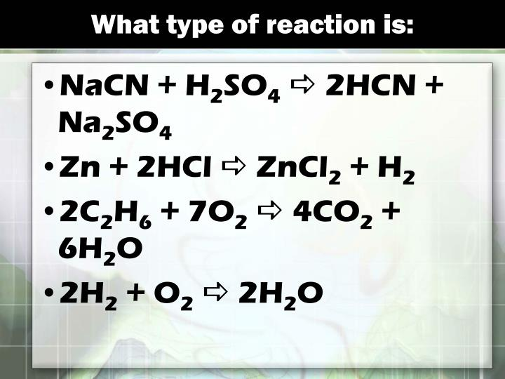 What type of reaction is: