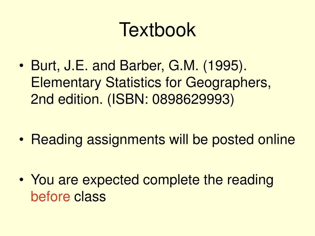 PPT - Quantitative Methods in Geography PowerPoint