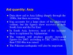 aid quantity asia