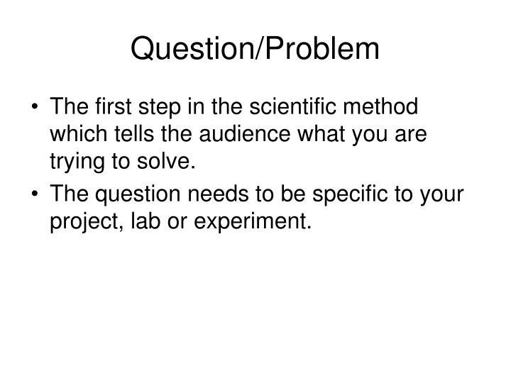 Question problem
