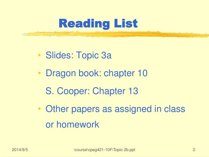 Slides: Topic 3a