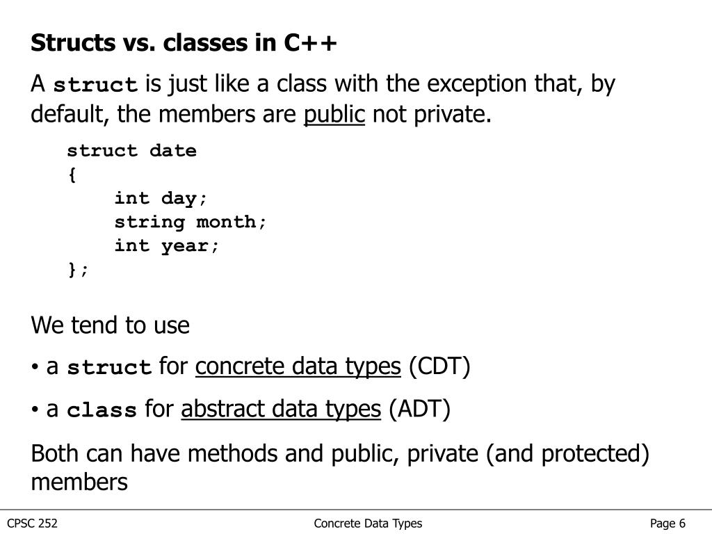 PPT - Overview of Concrete Data Types There are two kinds of data