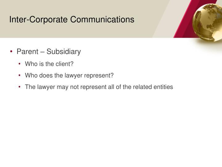 Inter-Corporate Communications