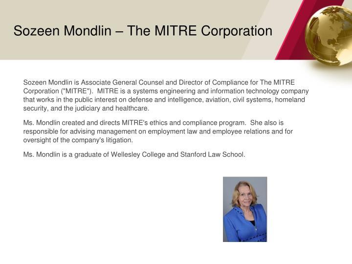 Sozeen mondlin the mitre corporation