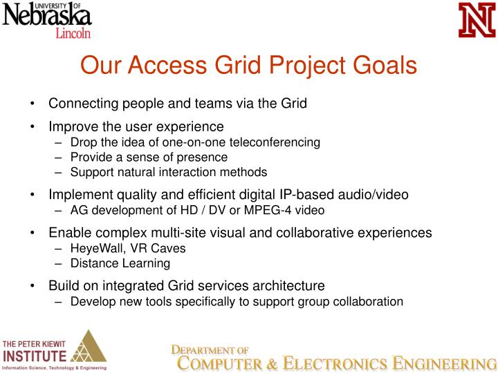Our Access Grid Project Goals