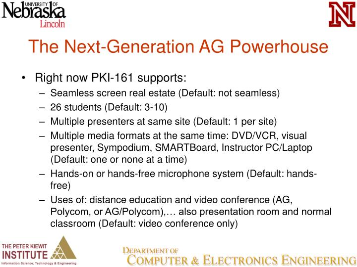 The Next-Generation AG Powerhouse