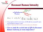 resonant raman intensity