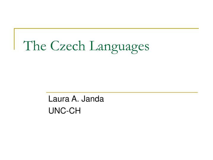 the czech languages n.