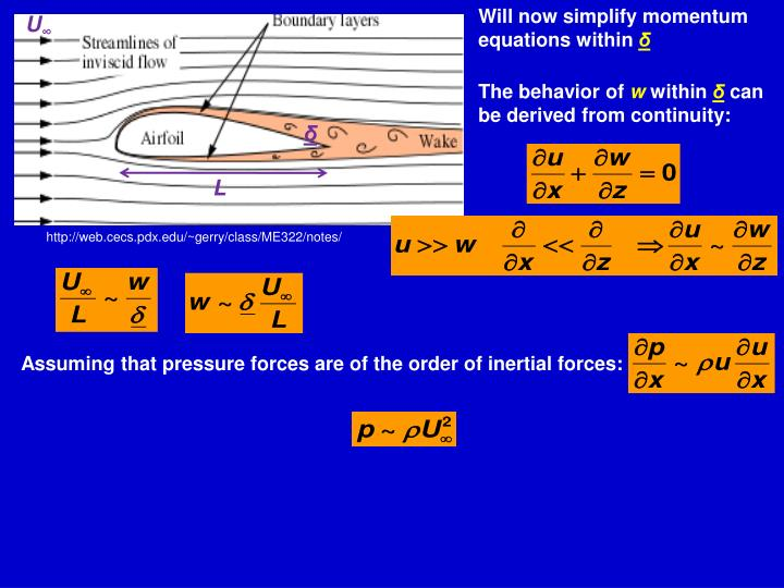 Will now simplify momentum equations within