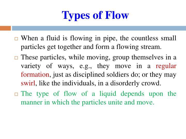 Kinematics of fluid flow ppt