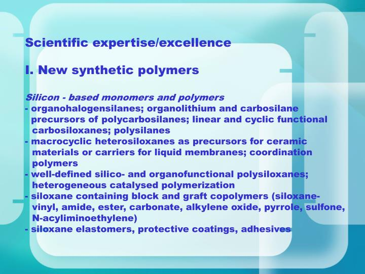 Scientific expertise/excellence